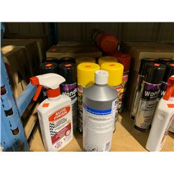 ASSORTED BOXES OF CARPLAN FLASH DASH CLEANER, AUTO FINISH LEATHER CLEANER, TETROSYL VW COMPOUND &