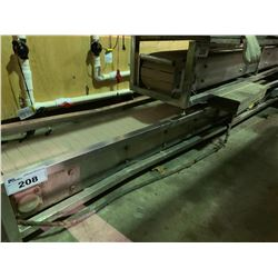 "9'10"" LONG 8"" WIDE STAINLESS STEEL / PLASTIC POWERED CONVEYOR SYSTEM"