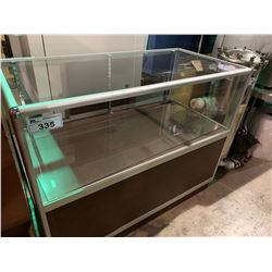 CHERRY / GLASS 48W X 24D X 38H DISPLAY COUNTER