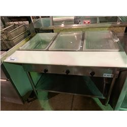 SERVIT STAINLESS STEEL COMMERCIAL 3 BAY HOT SERVING STATION
