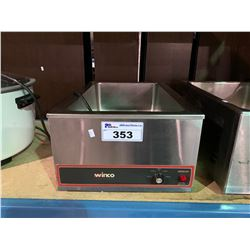 WINCO FW-S500 STAINLESS STEEL COMMERCIAL FOOD WARMER