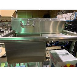 """SINGLE SINK 39"""" X 21"""" STAINLESS STEEL COMMERCIAL DISHWASHER STATION WITH FAUCET"""