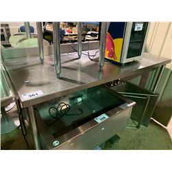 """60"""" X 30"""" STAINLESS STEEL COMMERCIAL PREPARATION TABLE WITH HAND WASH SINK & FAUCET"""