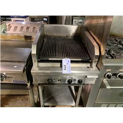 """QUEST STAINLESS STEEL 24"""" X 32"""" COMMERCIAL CHARBROILED GRILL ON STAND"""