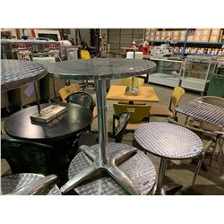 "CHROME TOP 24"" ROUND CAFE TABLE"