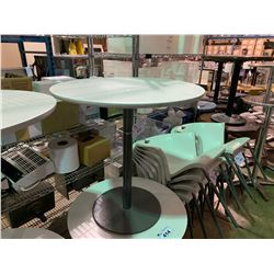 "WHITE TOP 27"" ROUND OUTDOOR CAFE TABLE"