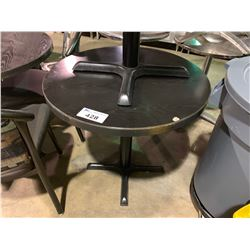 "DARK WOOD TOP 30"" ROUND CAFE TABLE"