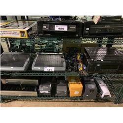 SHELF OF MICROS POS SYSTEMS, FLIR DIGIMERGE BOX & SONY AUDIO CONTROL CENTER