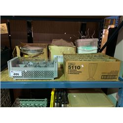 BOXES OF ASSORTED GLASSES & DISHWARE