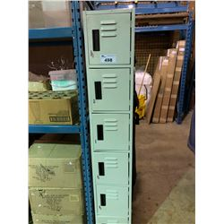 GREY 6 DOOR METAL LOCKER SYSTEM