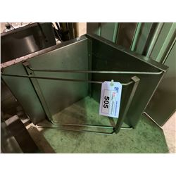 3 STAINLESS STEEL RESTAURANT WALL SHELVES