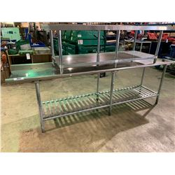 "STAINLESS STEEL 26"" X 108"" DISHWASH STATION TABLE"