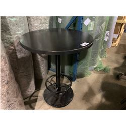 "DARK WOOD 36"" BAR HEIGHT RESTAURANT TABLE"