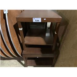 4 ASSORTED SIZED CHERRY END TABLES