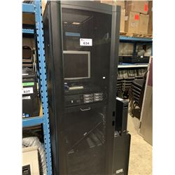 MOBILE SERVER CABINET, 1 APC 1400XL SMART-UPS RACK MOUNT BACKUP, 5 APC BATTERY PACK RACK MOUNT