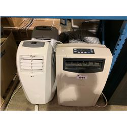 2 LG MOBILE AIR CONDITIONER UNITS & COMFORT CURE MOBILE AIR CONDITIONER