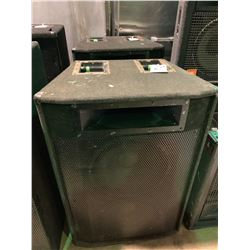 PAIR OF YORKVILLE ELITE MAXIMUM 1000 PROFESSIONAL SOUND REINFORCEMENT LOUD SPEAKER SYSTEM