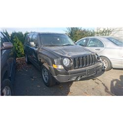 2015 JEEP PATRIOT, BLACK, GAS, MANUAL, VIN#1C4NJPAB6FD358250, TMU *NO KEYS, MUST TOW, NOT