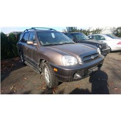 2005 HYUNDAI SANTA FE, BROWN, 4DRSW, GAS, AUTOMATIC, VIN#KM8SB13D75U900686, TMU *NO KEYS, NOT