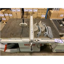 CANTEK MODEL CANTA12 TABLE SAW HP 5, TOTAL AMP 15, 230V