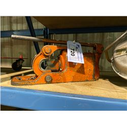 ORANGE HEAVY DUTY PIPE CUTTER PRECISION MACHINE AND FROMM AIR BANDER/CUTTER