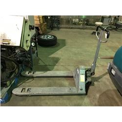 GALVANIZED 5000LBS CAPACITY PALLET JACK - DAMAGED HANDLE