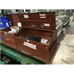 "JOBOX 30""X60""X39"" JOB SITE STORAGE BOX WITH CONTENTS"