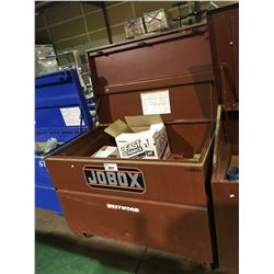 "JOBOX 30""X48""X34"" JOB SITE STORAGE BOX WITH CONTENTS"