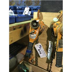 ORANGE WESTWARD 3/4TON HAND OPERATED CHAIN PULLER
