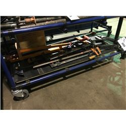 SHELF OF ASSORTED LARGE TOOL & WOOD CLAMPS
