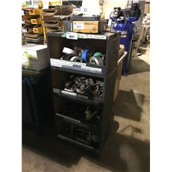 4 TIER PART & CLAMP RACK WITH CONTENTS