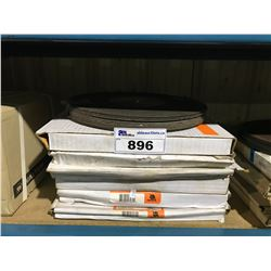 STACK OF ASSORTED WALTER CHOP CUT STEEL CUTTING DISCS