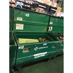 "GREENLEE 2448/23273 24""X48""X24"" 16.0 CU FT JOB SITE STORAGE BOX WITH CONTENTS"