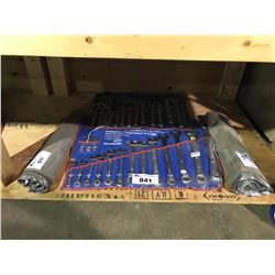 ASSORTED STANDARD & METRIC WRENCHES & WRENCH SETS