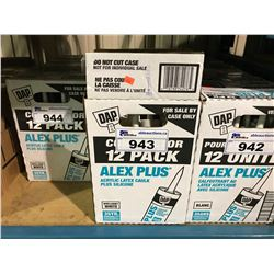 4 BOXES OF DAP ALEX PLUS ACRYLIC LATEX CAULKING