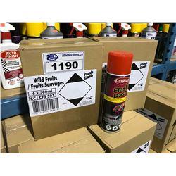 2 BOXES OF 6 X 500ML CARPLAN FLASH DASH WILD FRUITS DASH & TRIM AUTOMOTIVE CLEANER
