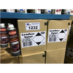 2 BOXES OF 6 X 400ML CARPLAN LEATHER VALET AUTOMOTIVE CLEANER & CONDITIONER