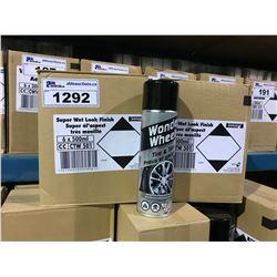 2 BOXES OF 6 X 500ML WONDER WHEELS SUPER WET LOOK FINISH TIRE & TRIM AUTOMOTIVE WHEEL CLEANER