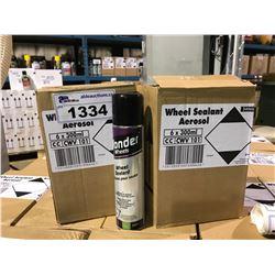2 BOXES OF 6 X 300ML WONDER WHEELS SILICONE AUTOMOTIVE WHEEL SEALANT