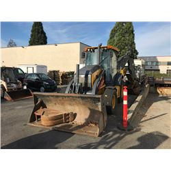 2016 JOHN DEERE 310SL BACKHOE, YELLOW, DIESEL, VIN#1T0310SLTGF296061, 1,488 HOURS, NO ICBC