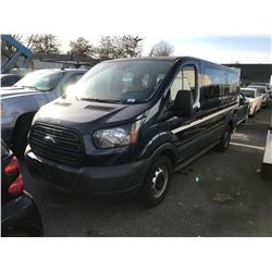 2016 FORD TRANSIT VAN, BLUE, GAS, AUTOMATIC, VIN#1FMZK1ZM9GKA62875, 51,449KMS, RD,PW,PL,TW,AC, NO