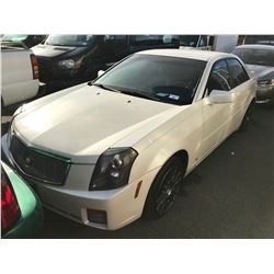 2006 CADILLAC CTS, PEARL, 4DRSD, GAS, AUTOMATIC, VIN# 1G6DP577260158154, 204,760KMS,