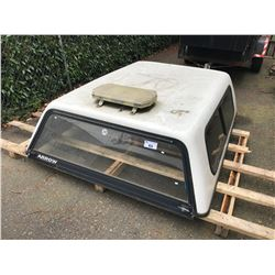 """ARROW WHITE TRUCK CANOPY WITH SERVICE LIGHT 69"""" X 78"""""""