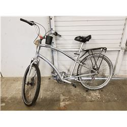 SILVER PAINTED ELECTRA MOUNTAIN BIKE