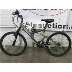 CHILDS GREY SUPERCYCLE FULL SUSPENSION MOUNTAIN BIKE