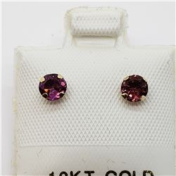 10K  2 IN 1 PINK TOURMALINE AND FRESH WATER PEARL (4MM) EARRINGS