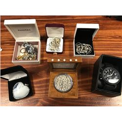 MIXED LOT, JEWELRY , WATCHES, COLLECTOR COIN ,ETC, (POLICE RECOVERED)
