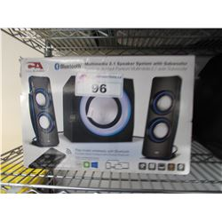 CYBER ACOUSTICS BLUETOOTH MULTIMEDIA 2.1 SPEAKER SYSTEM WITH SUBWOOFER