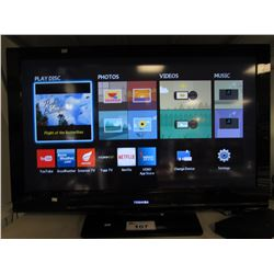 "TOSHIBA 40"" HDTV WITH REMOTE"