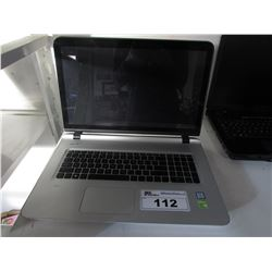 HEWLETT PACKARD ENVY INTEL I7 LAPTOP (FOR PARTS & REPAIR, HARDDRIVE REMOVED)